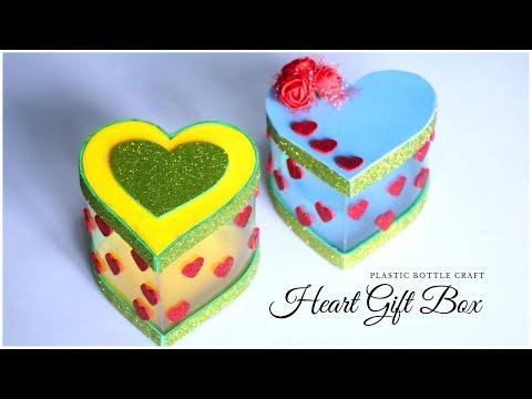 DIY Heart Gift Box | Plastic Bottle Craft Idea | How To Make Gift Box from Plastic Bottle