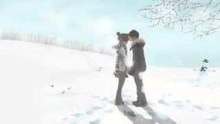 Cute Anime Couple in Winter 1600x900 wide wallpapers net