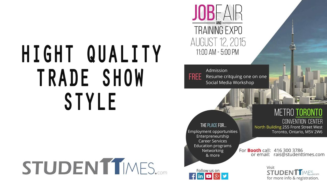 Job Fair & Training Expo in Toronto @ Metro Convention Centre ...