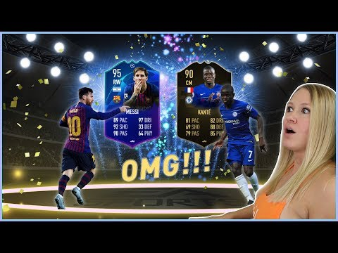 OMG! I GOT 95 MESSI AND 90 IF KANTE!!
