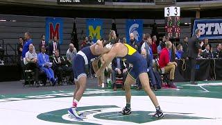 B1G Wrestling Championships: 174 LBs Penn State's Mark Hall vs. Michigan's Myles Amine