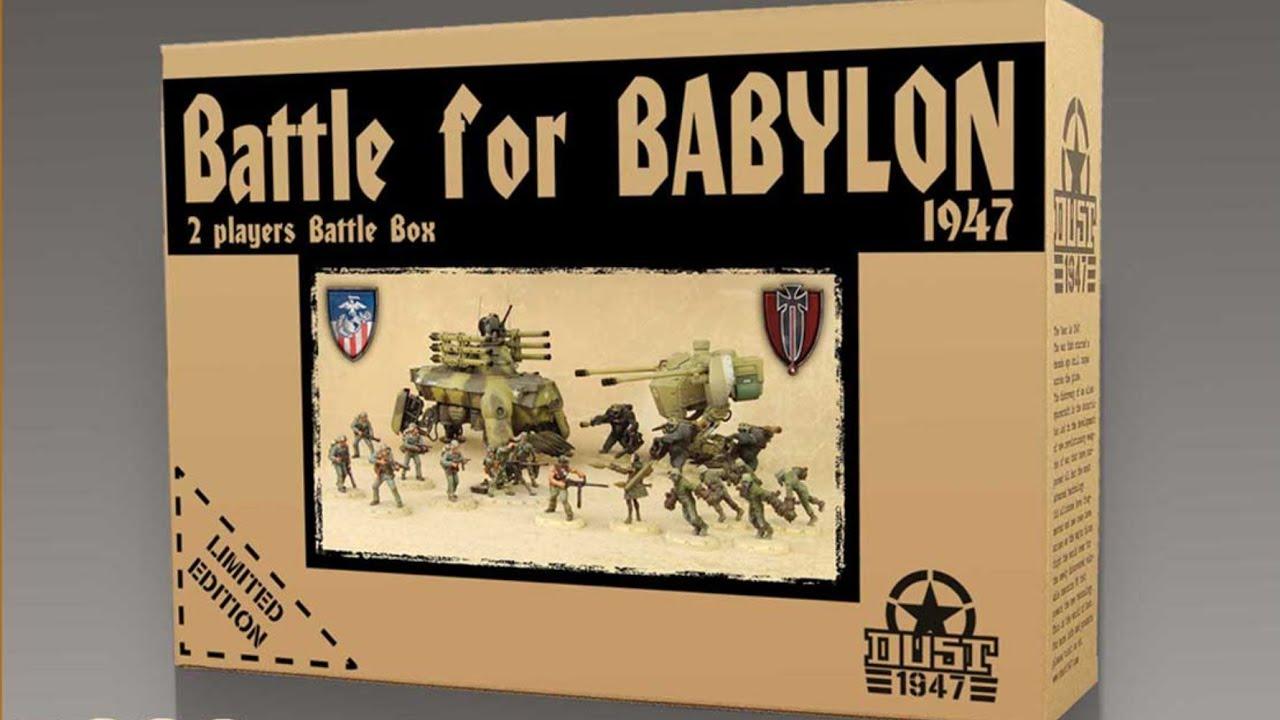 =NEW= Battle for Babylon Two Player Battle Box DUST 1947