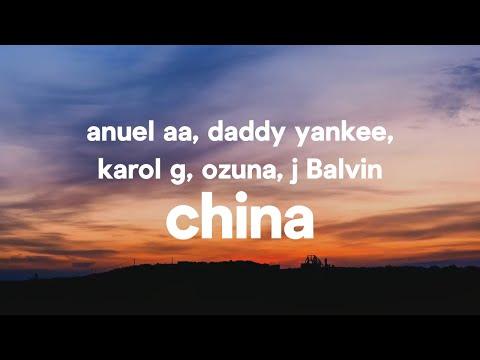 Anuel AA, Daddy Yankee, Karol G, Ozuna & J Balvin - China (Letra / Lyrics)