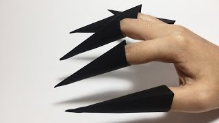 WITCHES 'S CLAWS ORIGAMI TUTORIAL | HALLOWEEN ORIGAMI