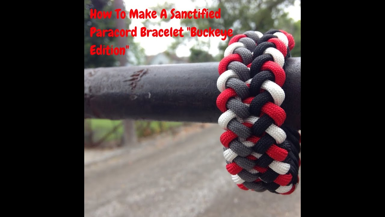 How To Make The Sanctified Quot Paracord Pattern Bracelet
