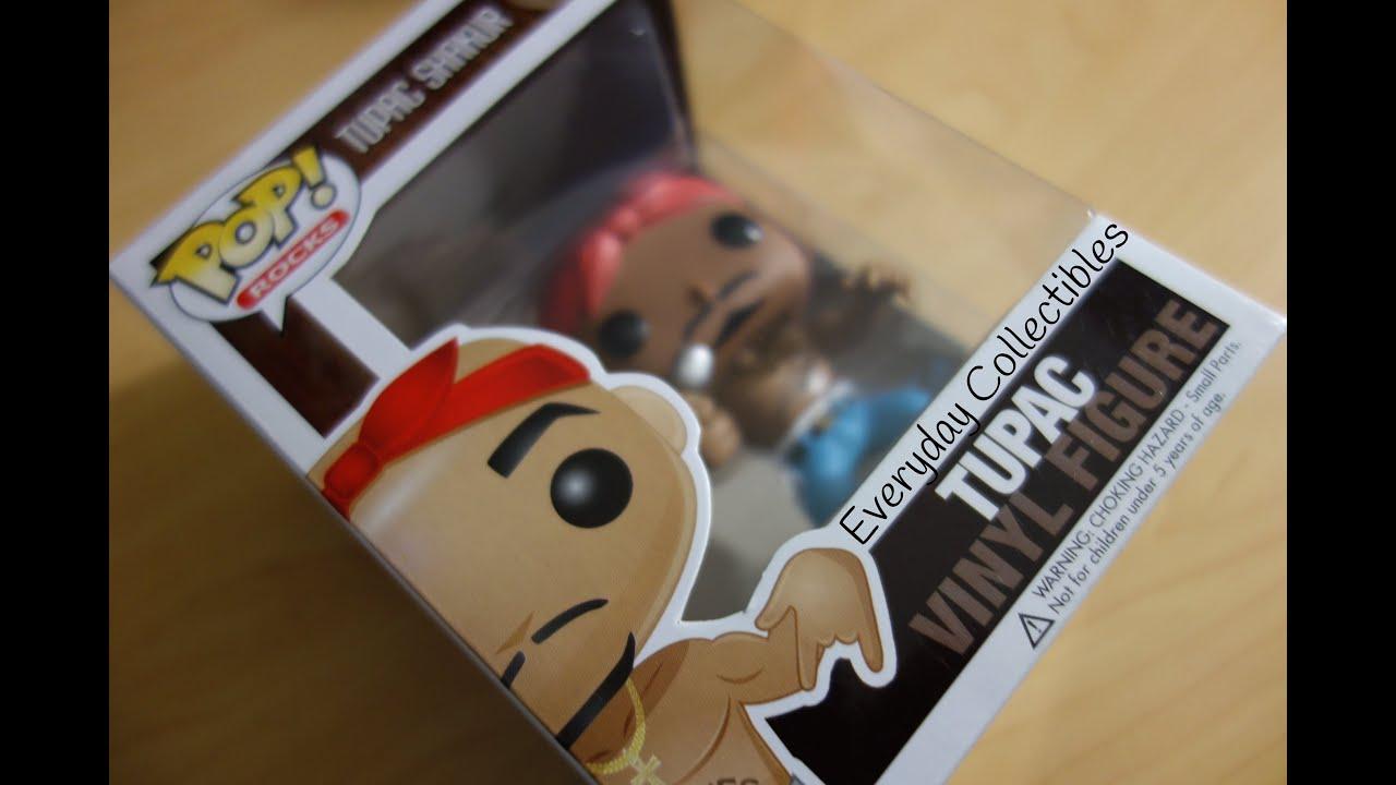 Funko Pop Rocks Tupac Shakur 19 Vinyl Figure Youtube