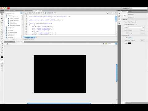 Flash CS4: How To Make A 3D Particle Field