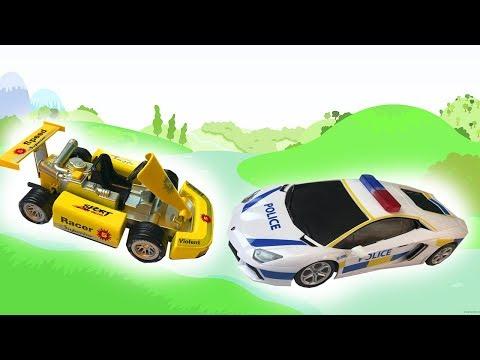 Машинки для Мальчиков - Молния Маквин и Гонки- Видео про Тачки из Мультфильма для Детей