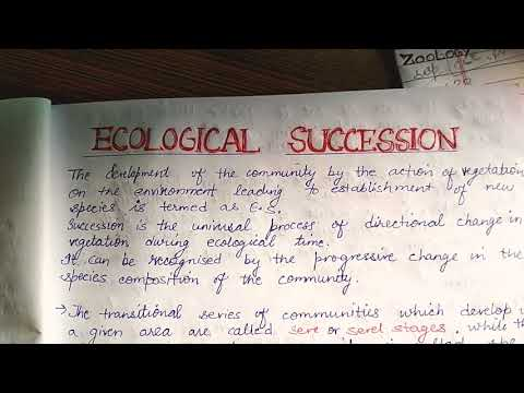 Defining ecological succession
