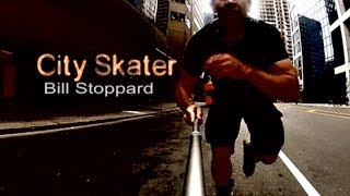 Inline Skater Rips Downtown Toronto; Stairs, Traffic, Sprints and Powerslides