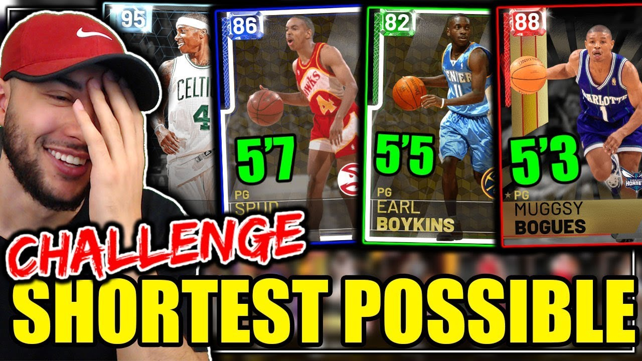 THE SHORTEST POSSIBLE LINEUP IN NBA 2K19 MYTEAM! NO PLAYER IS 6'0 TALL! NBA  2K19 Challenge