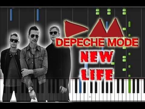 Depeche Mode  New Life Piano  Synthesia Piano Tutorial