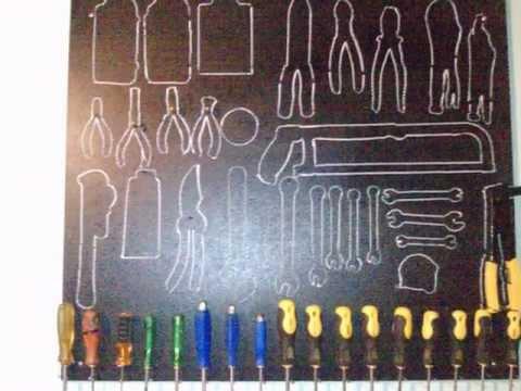 C mo organizar un taller en el garaje funnydog tv - Tablero de herramientas ...