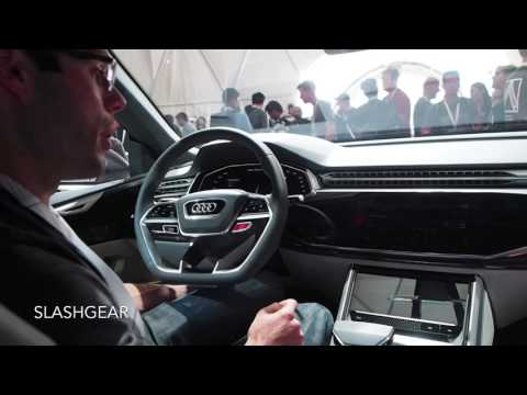 Embedded Android Auto integrated with Audi Q8 Sport concept hands-on