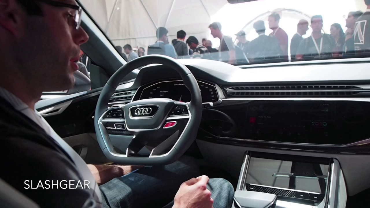 Embedded Android Auto Integrated With Audi Q Sport Concept Handson - Google audi car