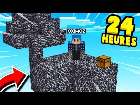 PIÉGÉ SUR UNE ÎLE EN BEDROCK PENDANT 24 HEURES ! 🔥😱 | Minecraft