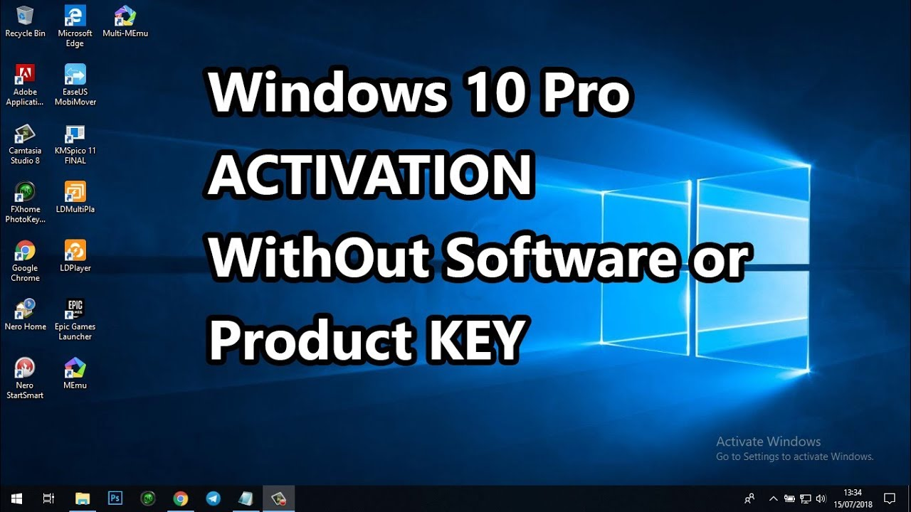 Windows 10 PRO Activation Free 2018 Without Software or ...