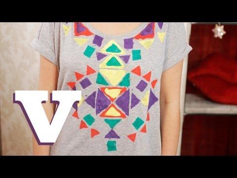 How To Make A DIY Aztec Print T-Shirt: Fix Up Look Sharp - S01E6/8