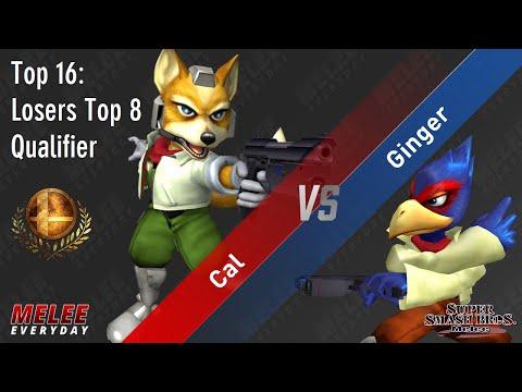 Aegis - Cal (Fox) vs. Ginger (Falco) - SSBM - Top 16 - Losers Top 8 Qualifier