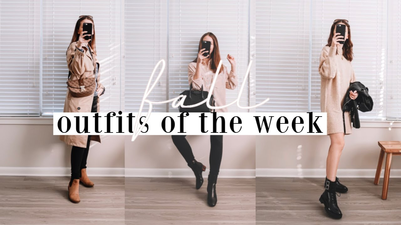 [VIDEO] - FALL OUTFITS OF THE WEEK ? | fall outfit inspiration 2019 8