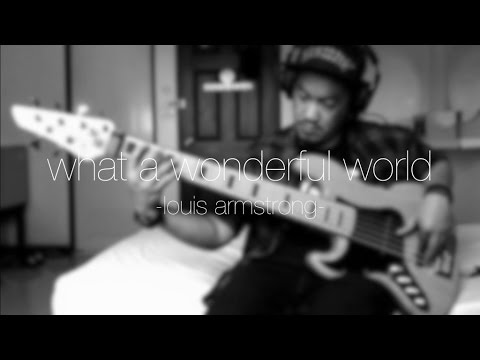 Louis Armstrong - What a Wonderful World (bass & piano intrumental cover by Angga & Wibi)