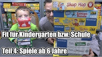 Fit für Kindergarten & Schule Teil 4 - Top Lernspiele ab 6 Jahre (+ Hinweis zum Alter)