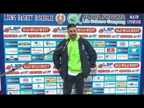PRESS ROOM Alpha Pharma-Monopoli: coach Millina e Torresi