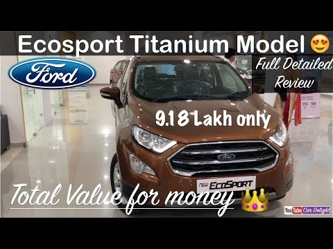 New Ford Ecosport 2017 facelift Titanium Model Interior,Exterior and Full Review