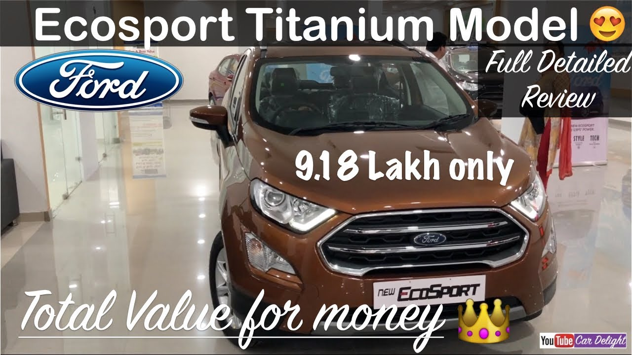 New Ford Ecosport 2017 Facelift Titanium Model Interiorexterior And Full Review