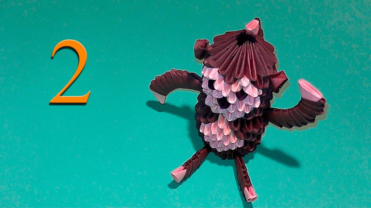 Поделки на новый год оригами обезьяна