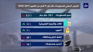 تراجع العجز التجاري للأردن  13.4 % خلال أول 9 أشهر من العام الحالي (25/11/2019)