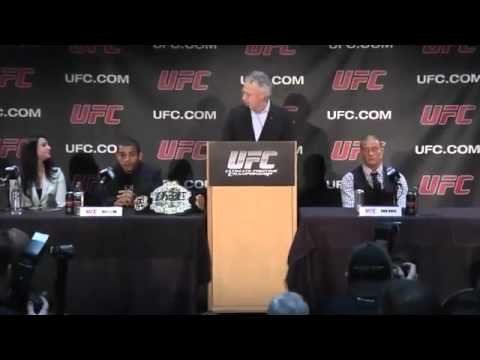 UFC Press Conference from Alberta, Canada