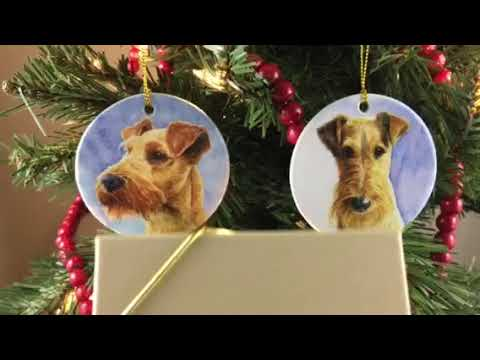 Irish Terrier Christmas Ornaments