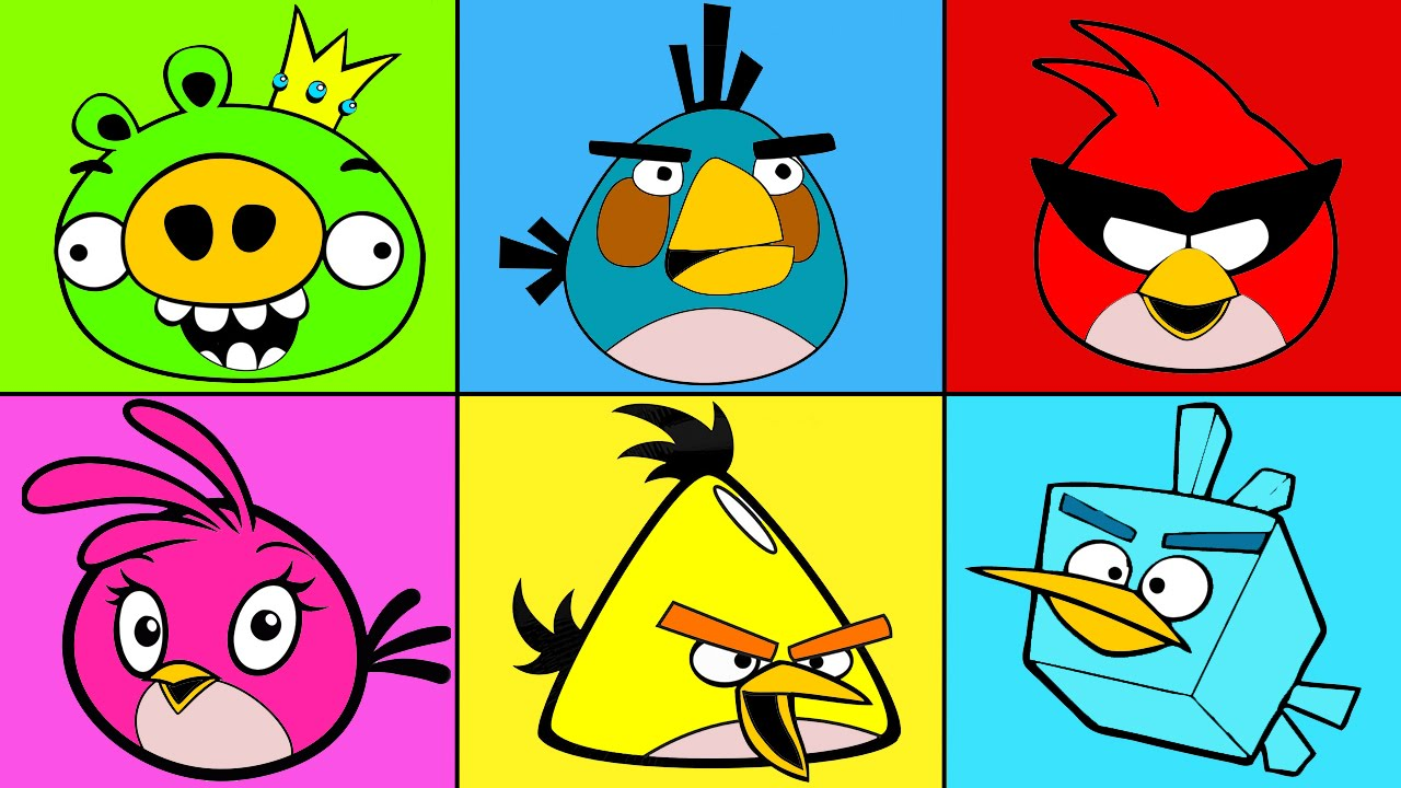 Angry Birds Coloring Mix For Children