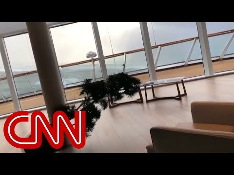Video shows chaos inside of cruise ship being evacuated