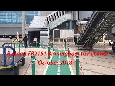 TRIP REPORT| Ryanair Boeing 737 Birmingham To Alicante, October 2018
