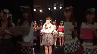 20170709 第3回シブサン定期公演での新田湖子ちゃんの1分間アピール です。