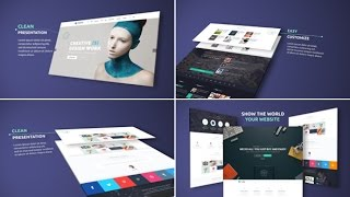 Elegant Website Presentation ( After Effects Template )