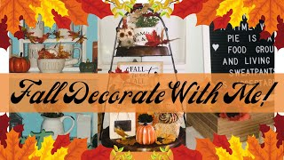 🍁FALL DECORATE WITH ME 2019 | FALL DECORATING IDEAS | FALL DECORATING 2019🍁