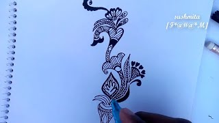 Beautiful Alpona Design And Rengoli Design 15 || Mehendi Design || Alpona Design