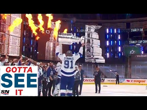 GOTTA SEE IT: Tampa Bay Lightning Raise Stanley Cup After Defeating The Dallas Stars