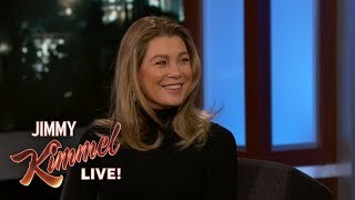 Jimmy Kimmel Quizzes Ellen Pompeo on Grey's Anatomy