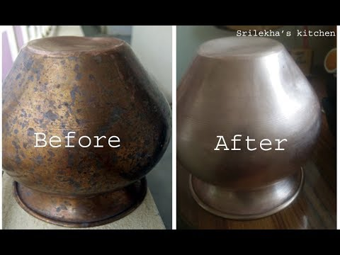 Copper Vessel Cleaning in Telugu | Ragi Chembu Cleaning in just 5 Minutes