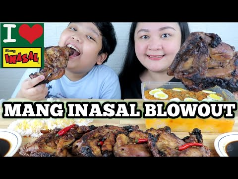 MANG INASAL BLOWOUT PROMO MUKBANG 2020 | CHICKEN INASAL FAMILY SIZE, PALABOK | FILIPINO FOOD MUKBANG