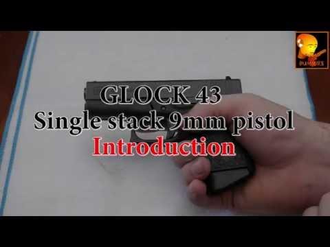 Guns for Dummies 4k Glock 43 Single Stack 9mm pistol - intro field strip disassemble take apart G43
