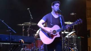 """A clip  of Andy Grammer singing """"Back Home"""", June, 6, 2014"""
