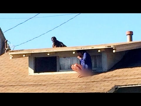 Woman who hid on rooftop to avoid intruder speaks out