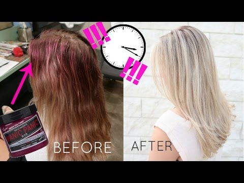 19c068dd5a6 REMOVE Manic Panic DYE IN LESS THAN A MINUTE!!! - YouTube