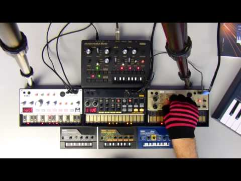 Analogue Jam #1 80's House Style Korg Monotribe and Volca Beats, Keys, Bass October 2014