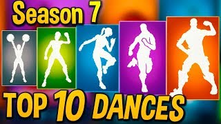 TOP 10 Best Fortnite Dances/Emotes Of All Season 7..!!